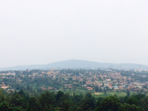 I love seeing panoramic views like this one from pretty much any point in Kigali.