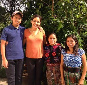 Posing with the UVA-GI in-country lake team.  Pictured from left to right: Marcos, Gaby(e), Felipa and Leticia