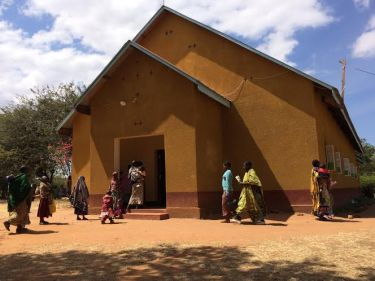 The church where we administered childhood vaccinations as part of Haydom's outreach program